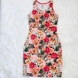 Mini Dress Floral Printed Size Small